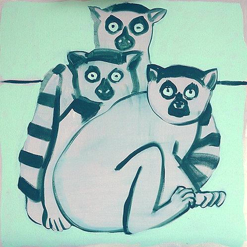 sisters / 50 x 50 cm / acrylic on canvas