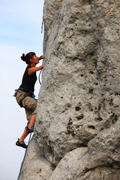 climbing rocks in Podlesice