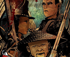 comics, graphic novel, western, black and white, independent, political