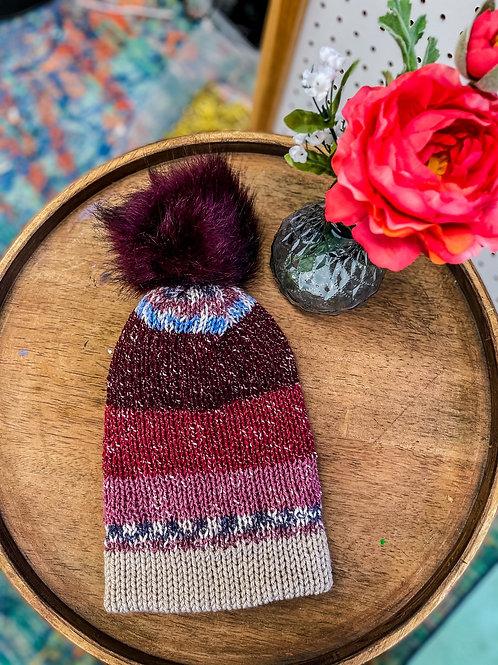 Knit Beanie - Faire stripe