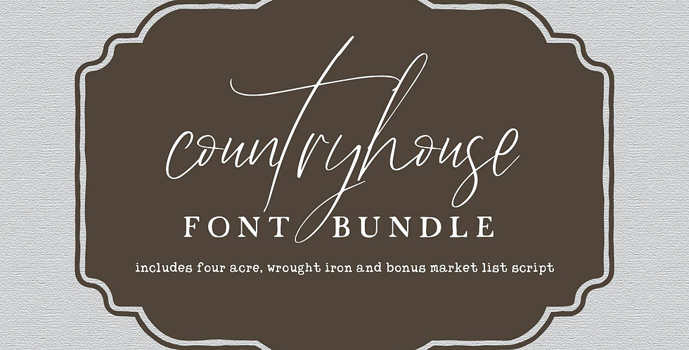 country house font bundle