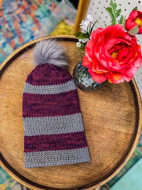 Knit Beanie - Raspberry Sparkle