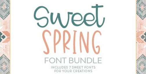 sweet spring font bundle