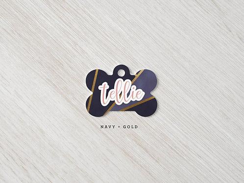 Tellie Navy & Gold