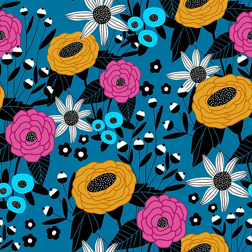 Pattern - Deco Blue