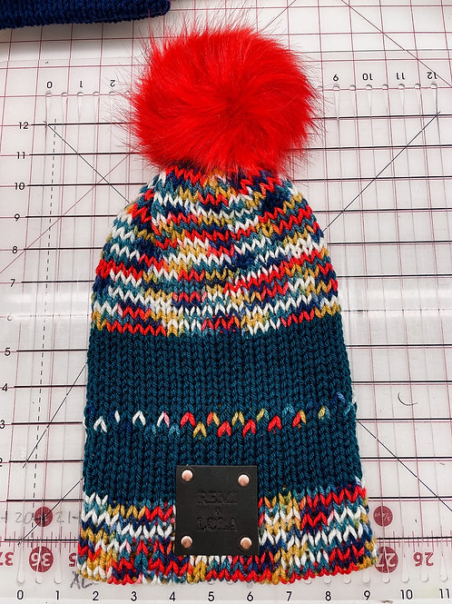 Knit Beanie - Queen of Hearts