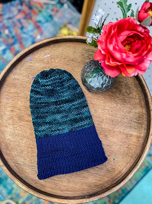 Knit Beanie - Emerald Navy
