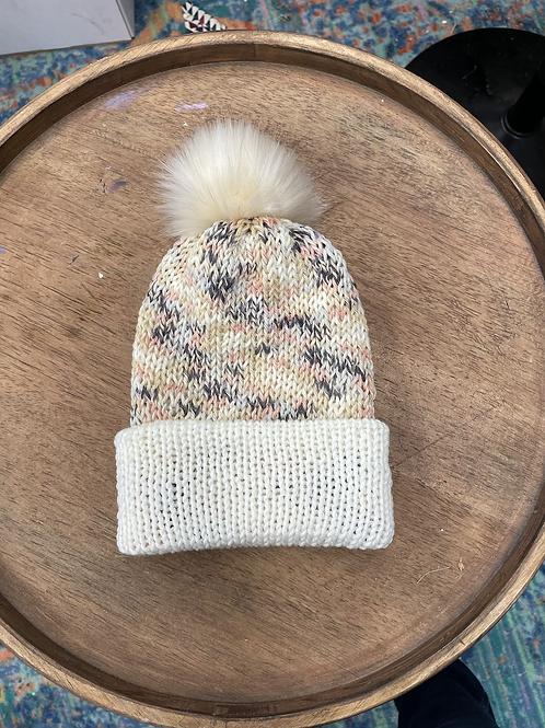 Knit Beanie - Peaches and Cream
