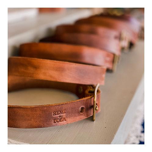 "1"" Leather Collar"