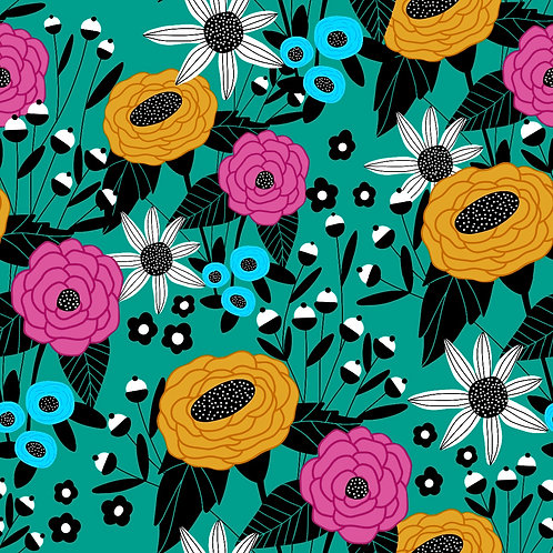 Pattern - Deco Teal