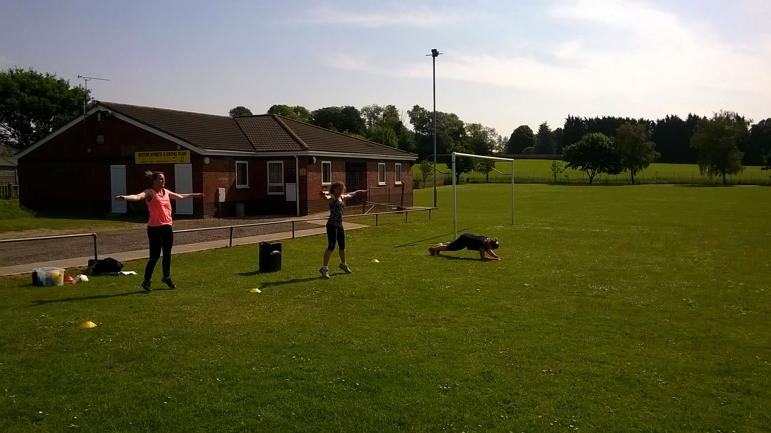 Group PT session in the Sun