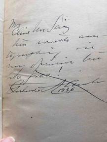 INSCRIBED Gertrude Atheton LOS CERRITOS