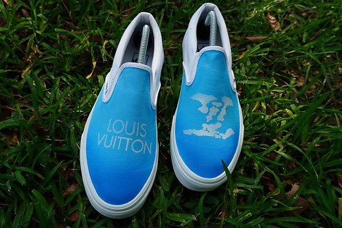 LOUIS VUITTON CLOUD INSPIRED SLIP ON VANS