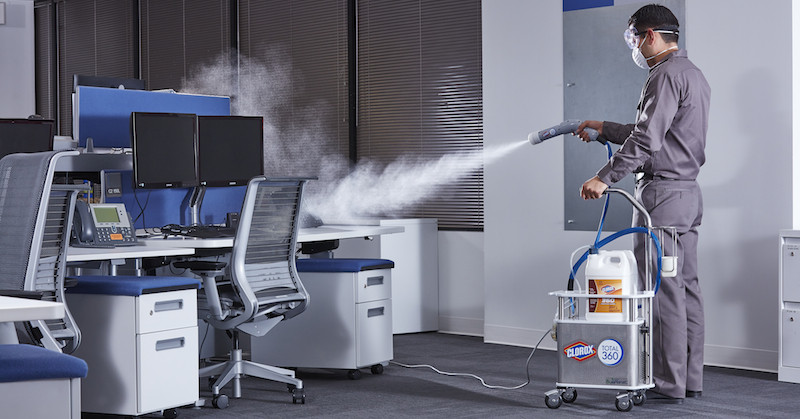 Clorox 360 Electrostatic Spraying and Disinfecting Offices Hawaii
