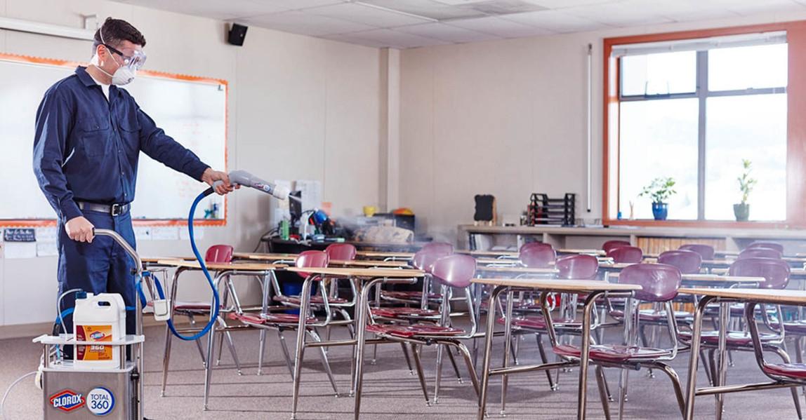 Clorox 360 Electrostatic Spraying and Disinfecting Schools Hawaii