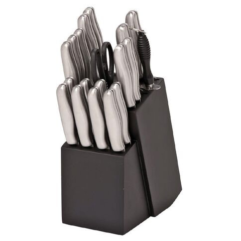 Pinewood Knife Block Set 20 Piece Black