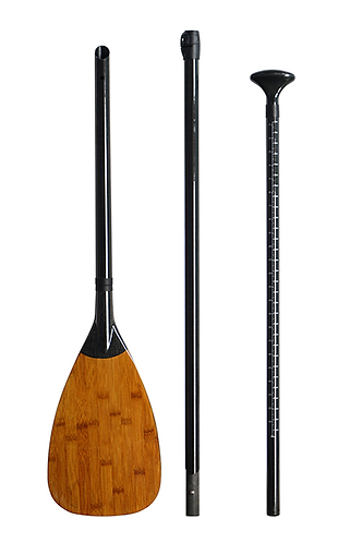 3 Piece Carbon Bamboo SUP Paddle