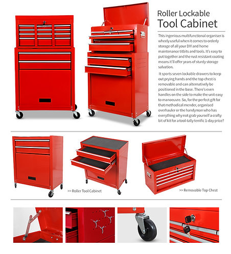 Roller Tool Box - Red