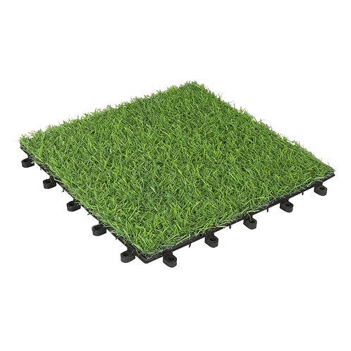 Artificial Grass Ground/Floor Tiles 9pk