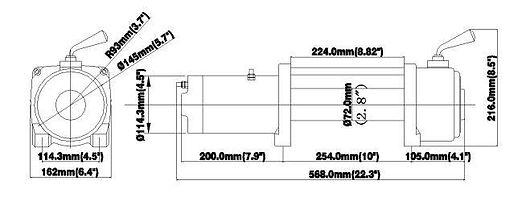 9000lb spec 2 speed winch