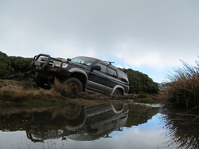 Toyota Surf with 2 speed winch for off road