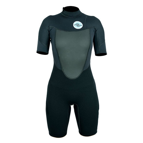 WOMENS 2/2 SPRING WETSUIT - BLACK