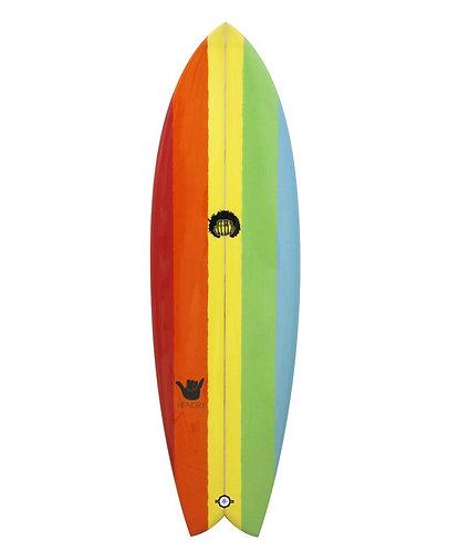 "HENDRIX RETRO FISH - RAINBOW 6'0"""