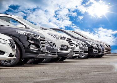 Cars For Sale Stock Lot Row. Car Dealer