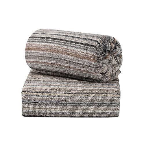 Jacquard Stripe Towels - 2pk Light Grey