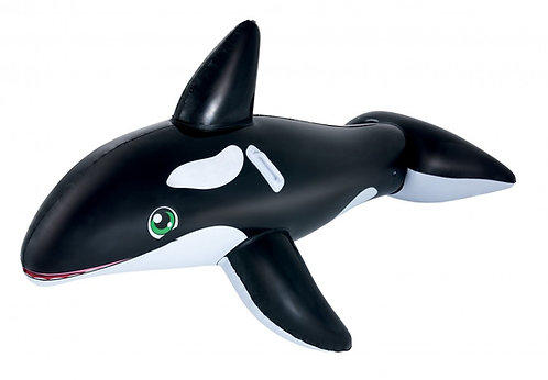 Jumbo Whale Rider - Inflatable Pool Float