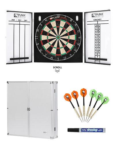 Puma Dartboard Pro Alloy Cabinet Set