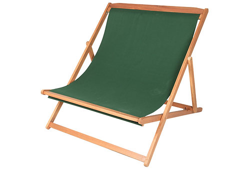 Deck Chair 3 Level Recline Green