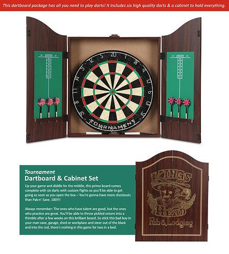 Tournament Dartboard & Cabinet Set