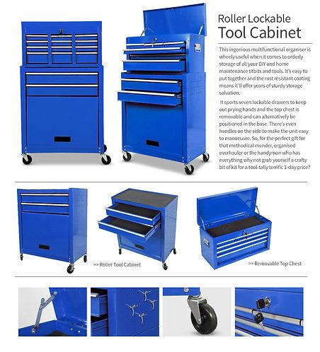 Roller Tool Box - Blue