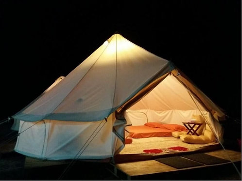 Double-door Oxford 900D Polyester Canvas Bell Tents - Spacious 5m Diameter