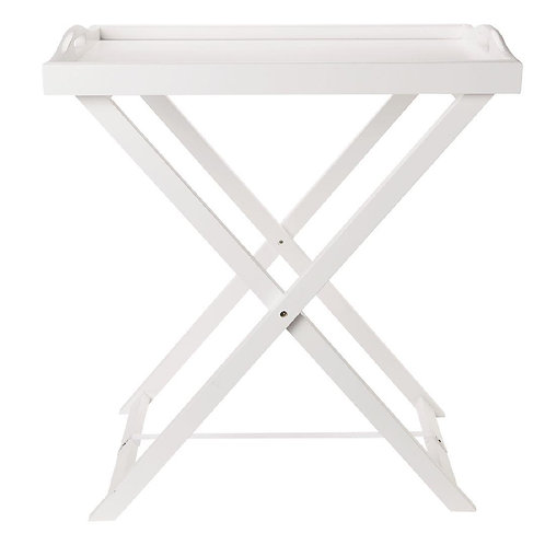 L&C Butler Tray Side Table White