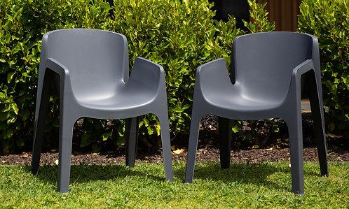 Amalfi Outdoor Chair - Grey - Pair