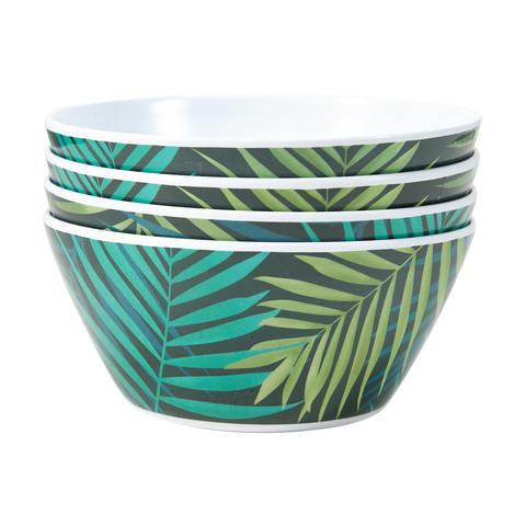 4 Tropical Palm Bowls
