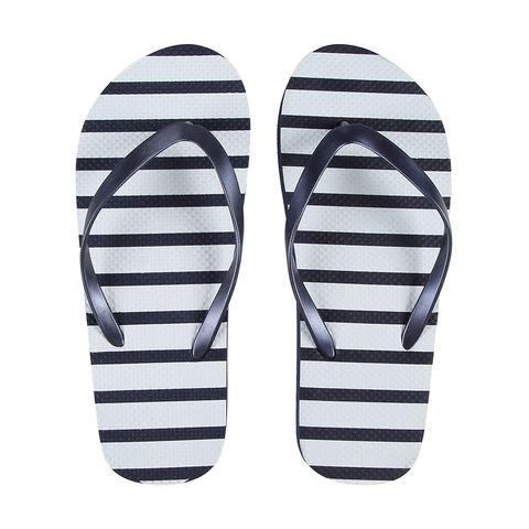 Printed Thongs - Nvy Stripe