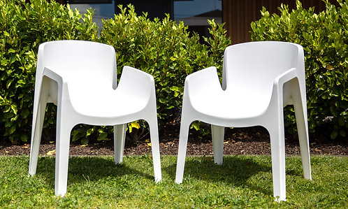 Amalfi Outdoor Chair - Wht - Pair