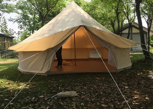 Single Door Oxford 900D Polyester Canvas Bell Tents - 5m Diamer