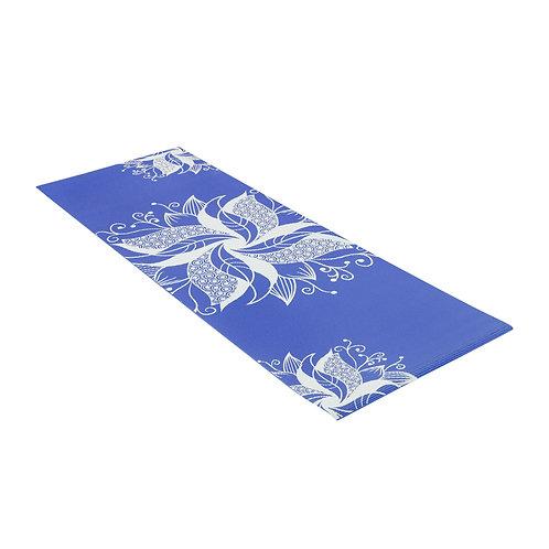 Yoga Mat PVC Printed Blue