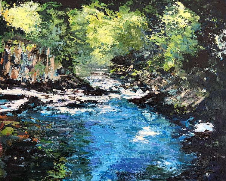 A River Runs / Julie Swan Art
