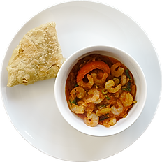 Bhuna Prawn on Puri ⒼⒸ