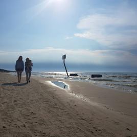 Biała Wydma Lubiatowo - spacer po plaży