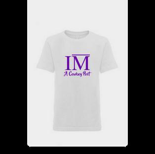 White Youth Shirt Purple Script.png