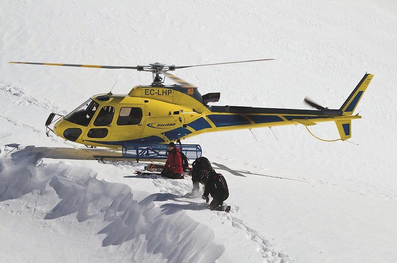 heliski - dépose en hélicoptère - andorr