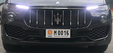 Plaque d'immatriculation Andorre - Platine Motors