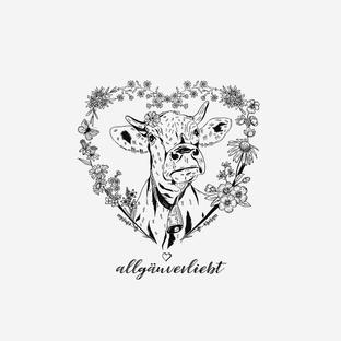 Kuh im Blütenherz