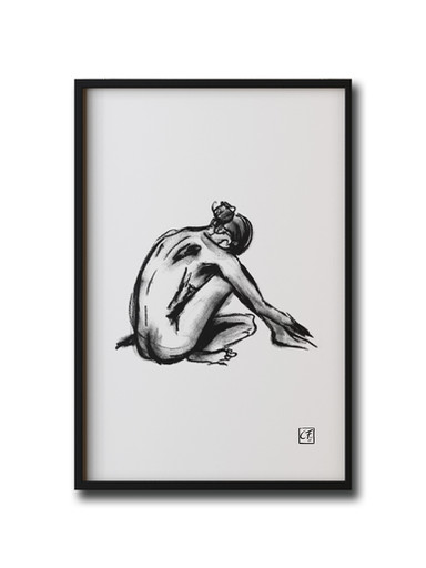 Akzeichnung Frau